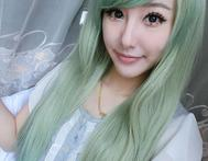 70 Cm Harajuku Anime Wig Cosplay Party Sexy Long Wavy Curly Synthetic Hair Green Costume Ombre Wigs With Bangs Peruca Perruque - AliExpress