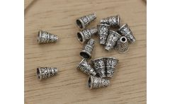 Hot ! Antiqued Silver Bali Style Bead End Caps Cones 7mmx7mmx10mm  ab766 - AliExpress