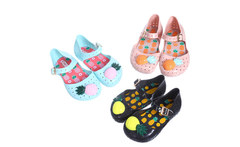 Mini melissa FURADINHA VII new style girls sandals Hollow sweet smell pineapple kids shoes 3 color US size 6-11 for children - AliExpress