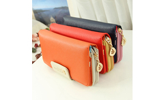 Women's Zipper Wallet Faux Leather Card Holder Clutch Phone Bag Long Purse Bag Hot 2015 - AliExpress