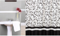 Cortinas de baño estampadas + argollas para colgar. Incluye despacho - Groupon