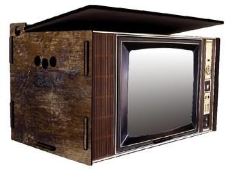 Baú Organizador TV Retrô