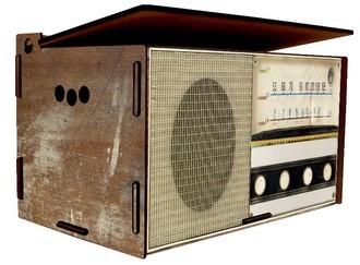 Baú Organizador Rádio Retrô