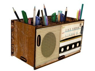 Porta Treco e Controle Remoto Rádio Retrô
