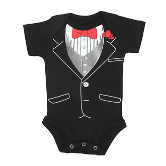 Body Baby Black Tie com Gravatinha Traje de Gala