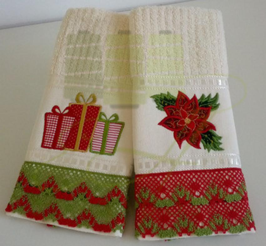 decoracao de lavabo para o natal : decoracao de lavabo para o natal:Toalha de Natal – EH Bordados
