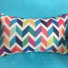 ACSCR Almofada Chevron Super Color retangular