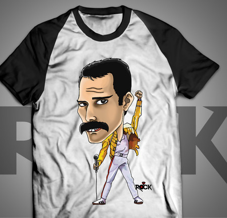 Freddie Mercury - The Queen - Camiseta Exclusiva