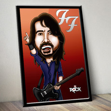 Dave Grohl (Foo Fighters) - Poster com moldura