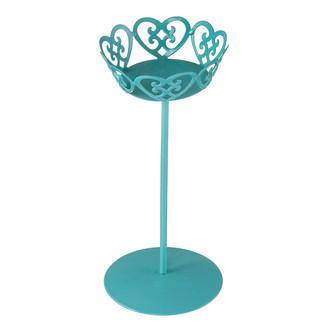 Porta Cupcake e Doce Metal Rendado Alto Azul