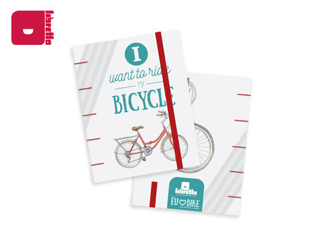 Caderno I Want to Ride My Bicycle | Capa dura 19x14cm costura copta