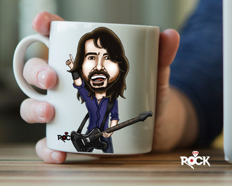 Caneca exclusiva Foo Fighters (Dave Grohl)