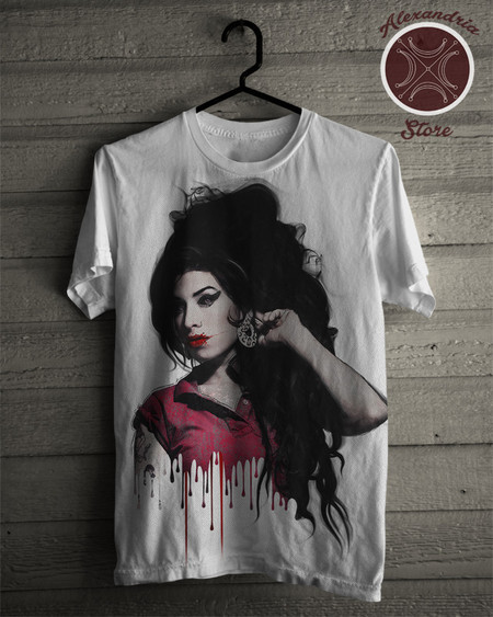Camiseta Amy Winehouse 1ac9f63c345