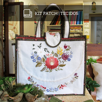 KIT PATCH | EMBROIDERY BAG (TECIDOS)