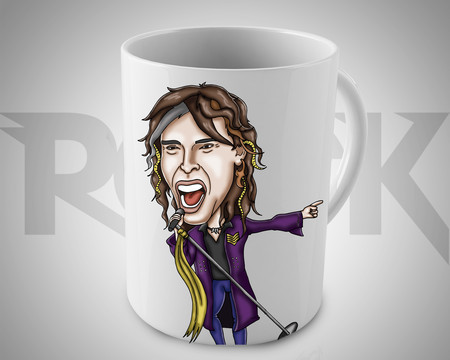 Steven Tyler  - Aerosmith - Caneca Exclusiva