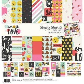 "BLOCO 12""X12"" - SIMPLE STORIES - EMOJI LOVE"