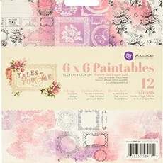 "BLOCO 6"" X 6"" - PRIMA MARKETING - TALES OF YOU & ME - PARA COLORIR"