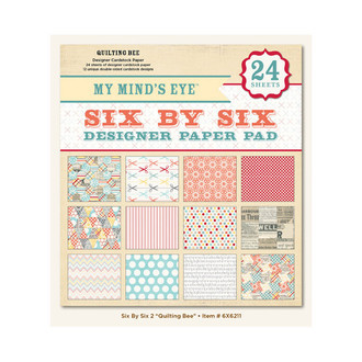 "BLOCO 6""X6"" - MY MIND'S EYES - QUILTING BEE"