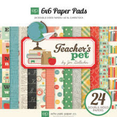 "BLOCO 6""X6"" - ECHO PARK PAPER - TEACHER'S PET"