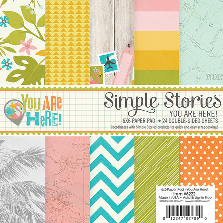 "BLOCO 6""X6"" - SIMPLE STORIES - YOU ARE HERE!"