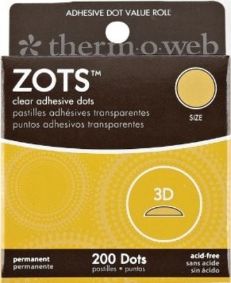 ZOTS - CLEAR ADHESIVE DOTS - 3D