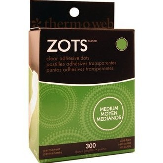 ZOTS - CLEAR ADHESIVE DOTS - MÉDIO