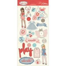 CHIPBOARD ADESIVO- PRIMA MARKETING - JULIE NUTTING - PAPER DOLLS