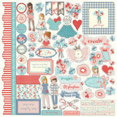 ELEMENT STICKER - PRIMA MARKETING - JULIE NUTTING - PAPER DOLLS
