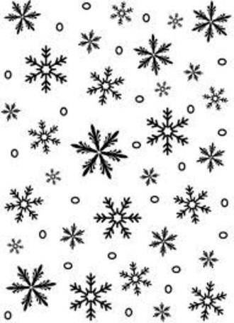 EMBOSSING FOLDER DARICE - SNOWFLAKE BACKGROUND