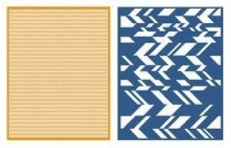 EMBOSSING FOLDER LIFESTYLE - CHEVRON