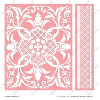 EMBOSSING FOLDER CUTTLEBUG - CROWNED MEDALLION