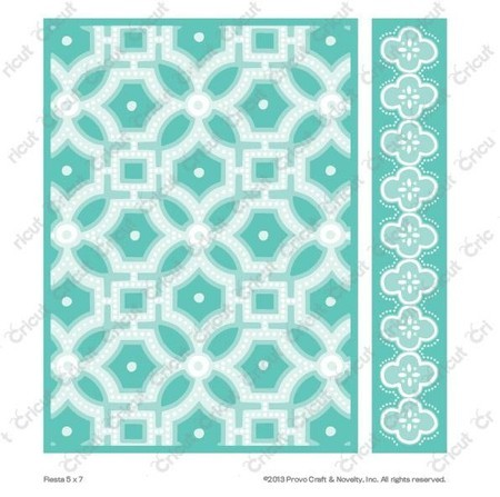 EMBOSSING FOLDER CUTTLEBUG - FIESTA