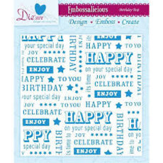EMBOSSING FOLDER CRAFTER'S COMPANION - BIRTHDAY TEXT