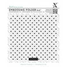 EMBOSSING FOLDER XCUT - SMALL POLKA HEARTS
