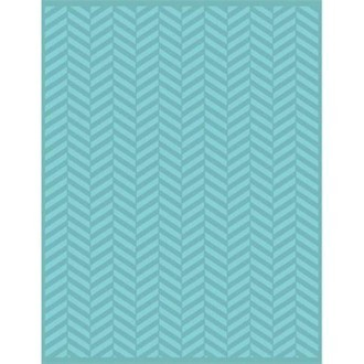 EMBOSSING FOLDER A4 CRAFTWELL - TERESA COLLINS - TWILL HERRINGBONE