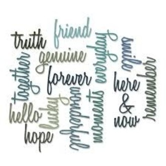 FACA SIZZIX - THINLITS - TIM HOLTZ - FRIENDSHIP WORDS: SCRIPT