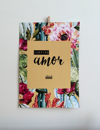 Poster Inspire Amor Cactos