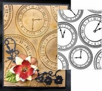 EMBOSSING FOLDER DARICE -  ASSORTED CLOCKS