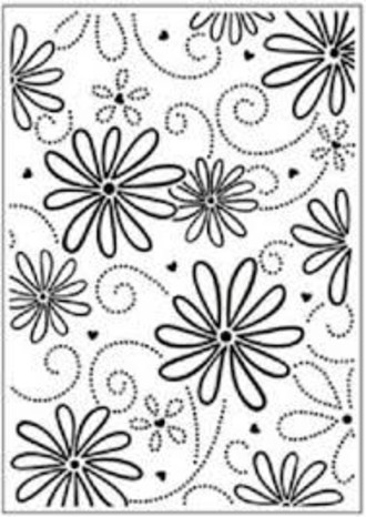 EMBOSSING FOLDER DARICE -  LARGE PETAL