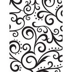 EMBOSSING FOLDER DARICE -  SCROLL BACKGROUND