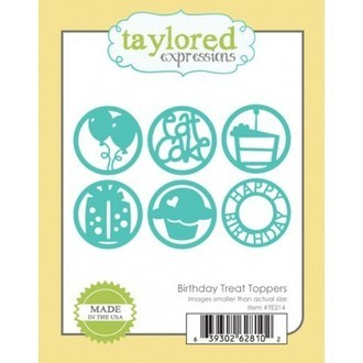FACA TAYLORED EXPRESSIONS - BIRTHDAY TREAT TOPPERS