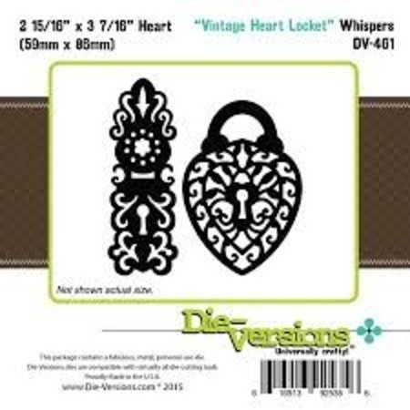 FACA DIE-VERSIONS - VINTAGE HEART LOCKET