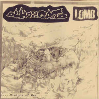 "Olho De Gato / Lomb ‎– Visions Of War - Stench Of Gore Split 7""EP"
