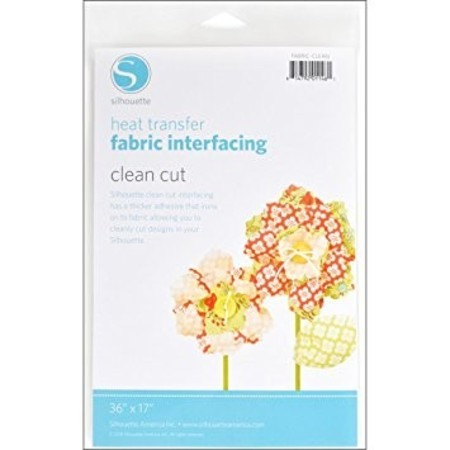 HEAT TRANSFER - FABRIC INTERFAING - CLEAN CUT - SILHOUETTE