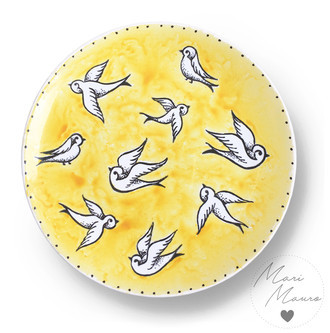 Prato decorativo Birds (20x20cm)