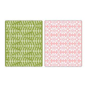 EMBOSSING FOLDER SIZZIX - EVERGREEN & SNOW FLOWERS SET