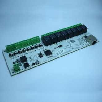 PLACA CONTROLADORA C/ INTERFACE ETHERNET WIRED 8 ENTRADAS 8 SAÍDAS