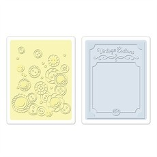 EMBOSSING FOLDER SIZZIX - VINTAGE BUTTONS SET