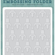 EMBOSSING FOLDER ECHO PARK PAPER - ROCKETSHIP