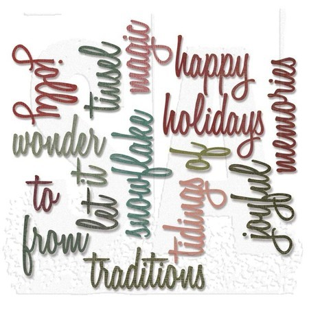 FACA SIZZIX - THINLITS - TIM HOLTZ - HAPPY HOLIDAYS